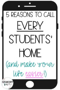 5 Reasons to Call Every Students' Home