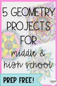 Geometry Projects for Middle and High School
