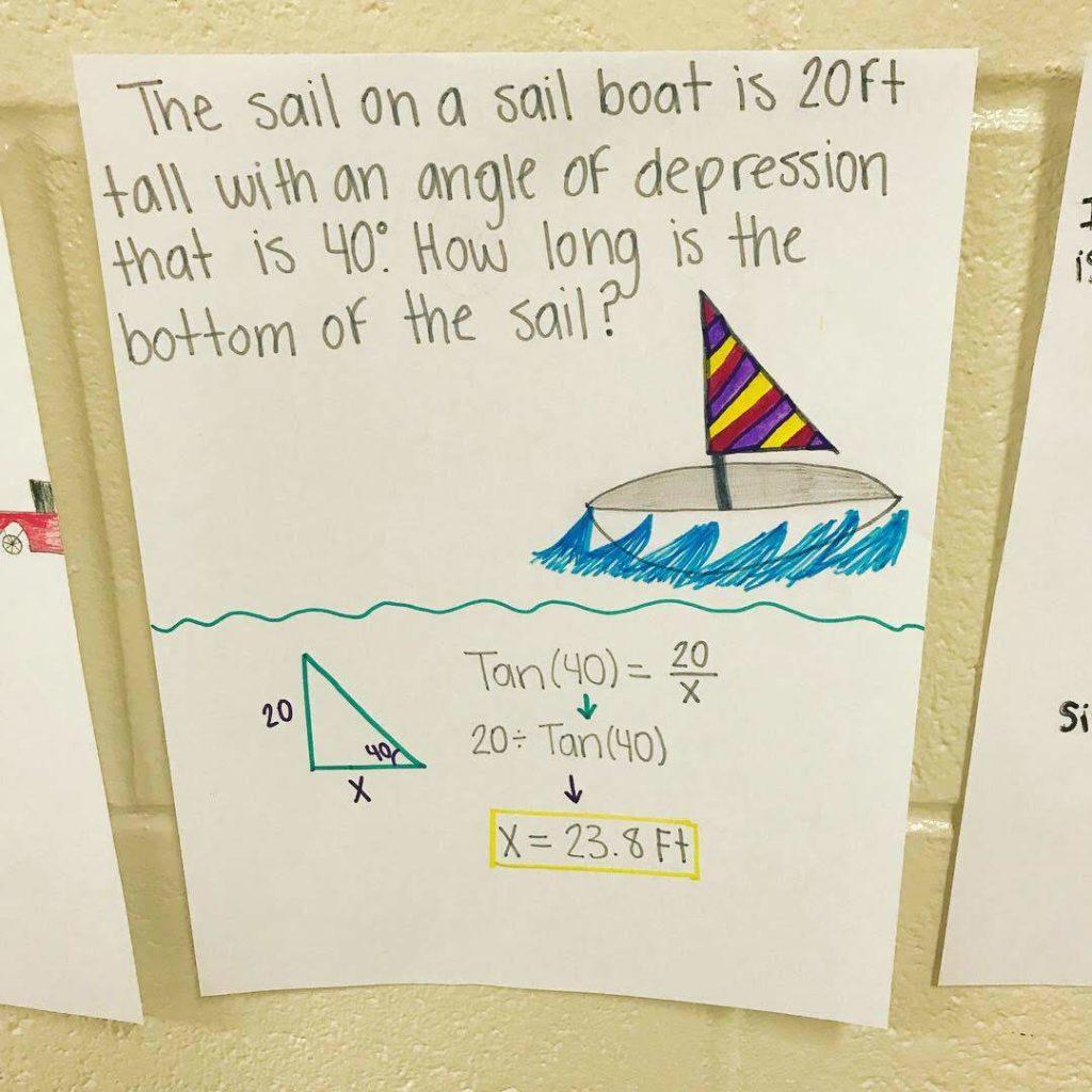 Ms Ma's Grade 11 Lesson 5.8: 3D Trigonometric Word ...  |Trigonometry Word Problems