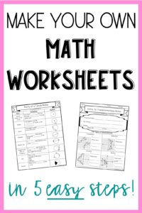 5 steps to make your own math worksheets lindsay bowden. Black Bedroom Furniture Sets. Home Design Ideas