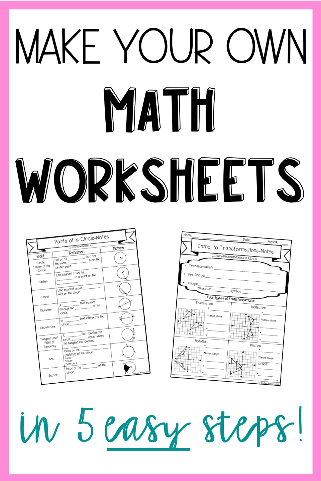 Make Your Own Math Worksheets