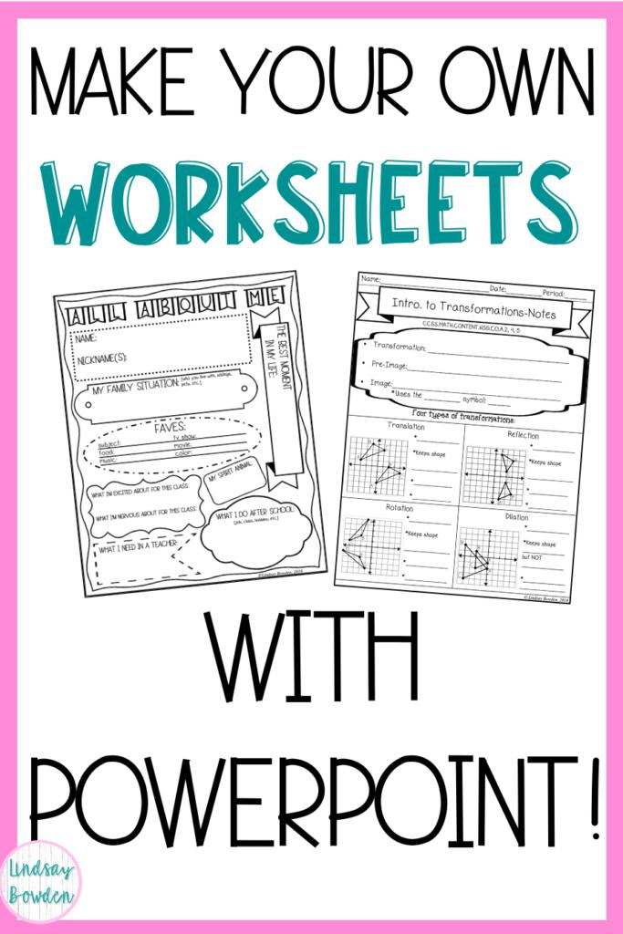 make-worksheets