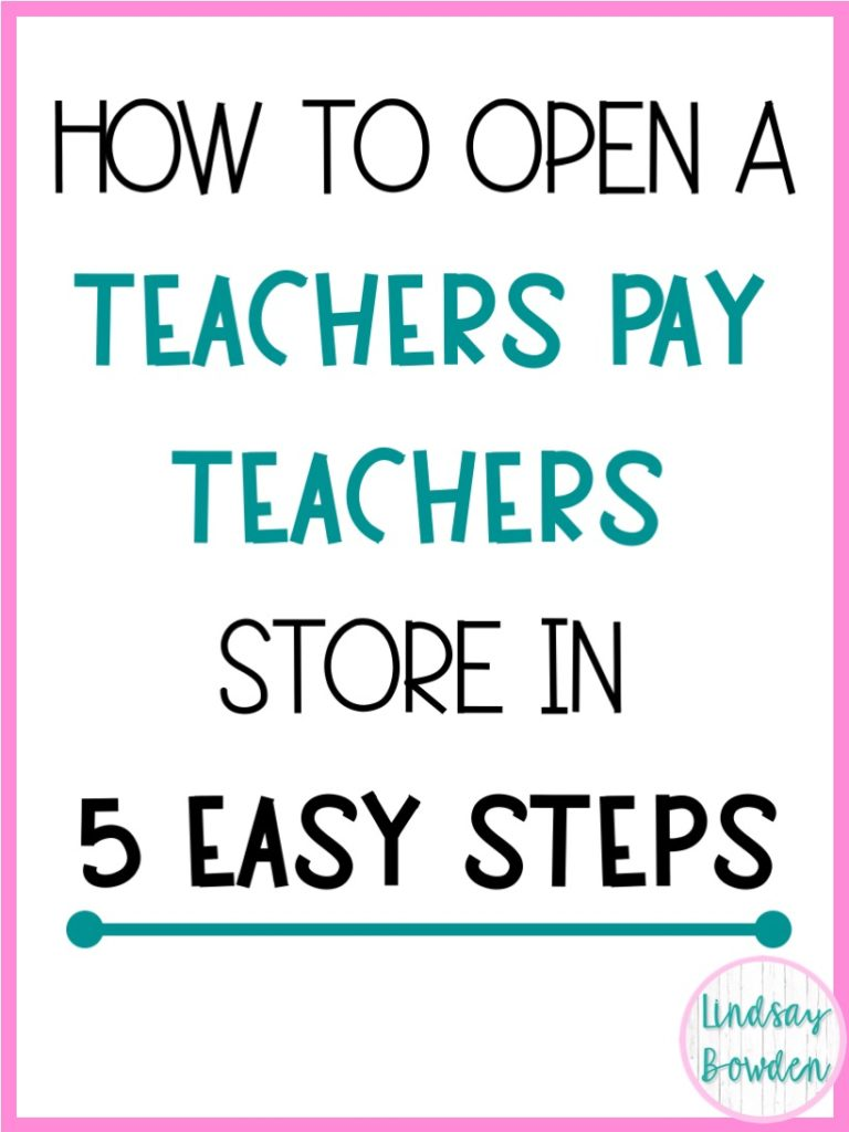 - How To Start A Teachers Pay Teachers Store - Lindsay Bowden