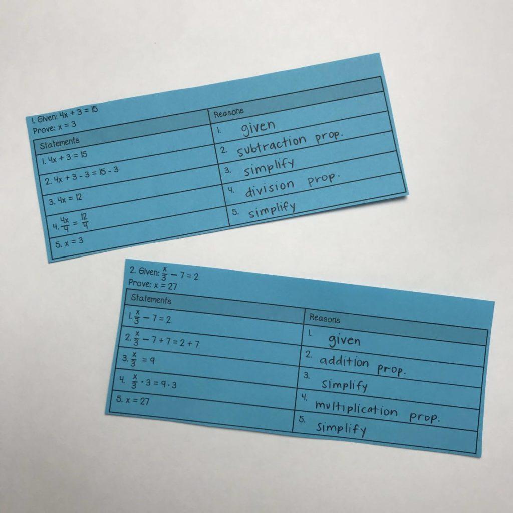 25 Ways to Teach Geometry Proofs - Lindsay Bowden Inside Geometry Worksheet Beginning Proofs