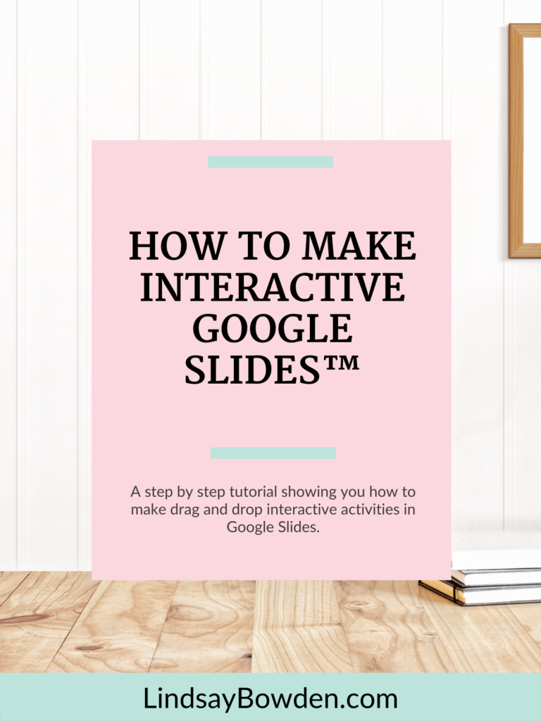 A step by step tutorial showing you how to make drag and drop interactive activities in Google Slides.