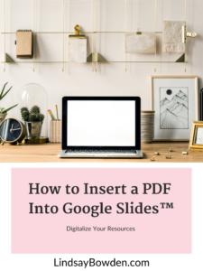 Insert a pdf into Google Slides