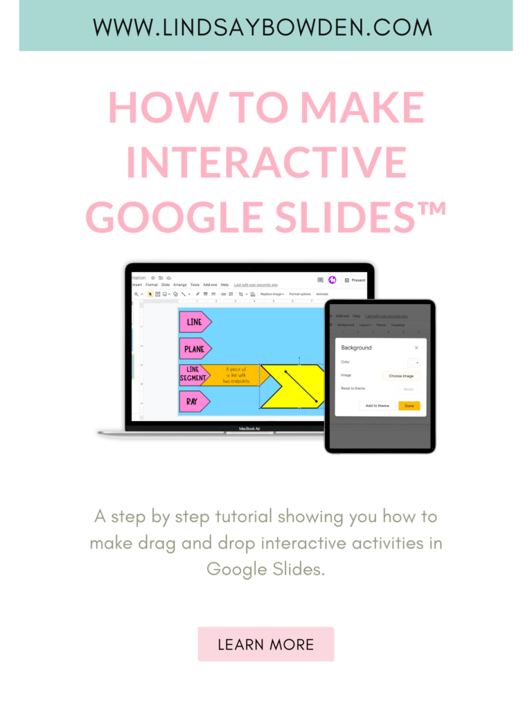 A step by step tutorial showing you how to make interactive activities in Google Slides.