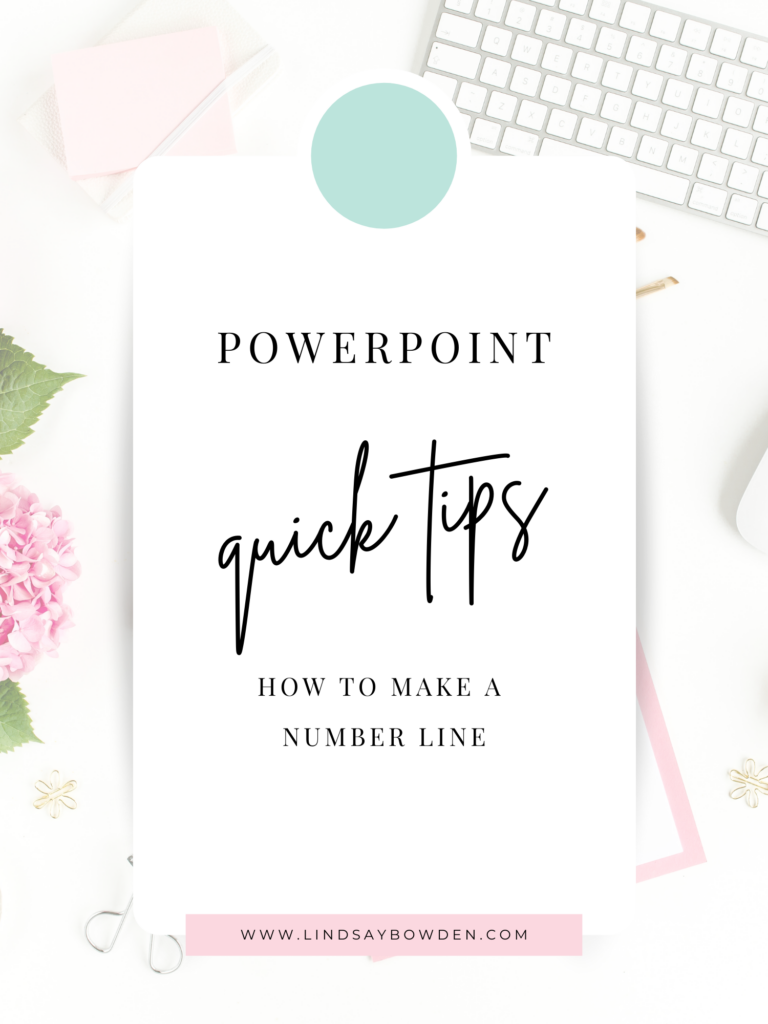 Make your own number lines using PowerPoint