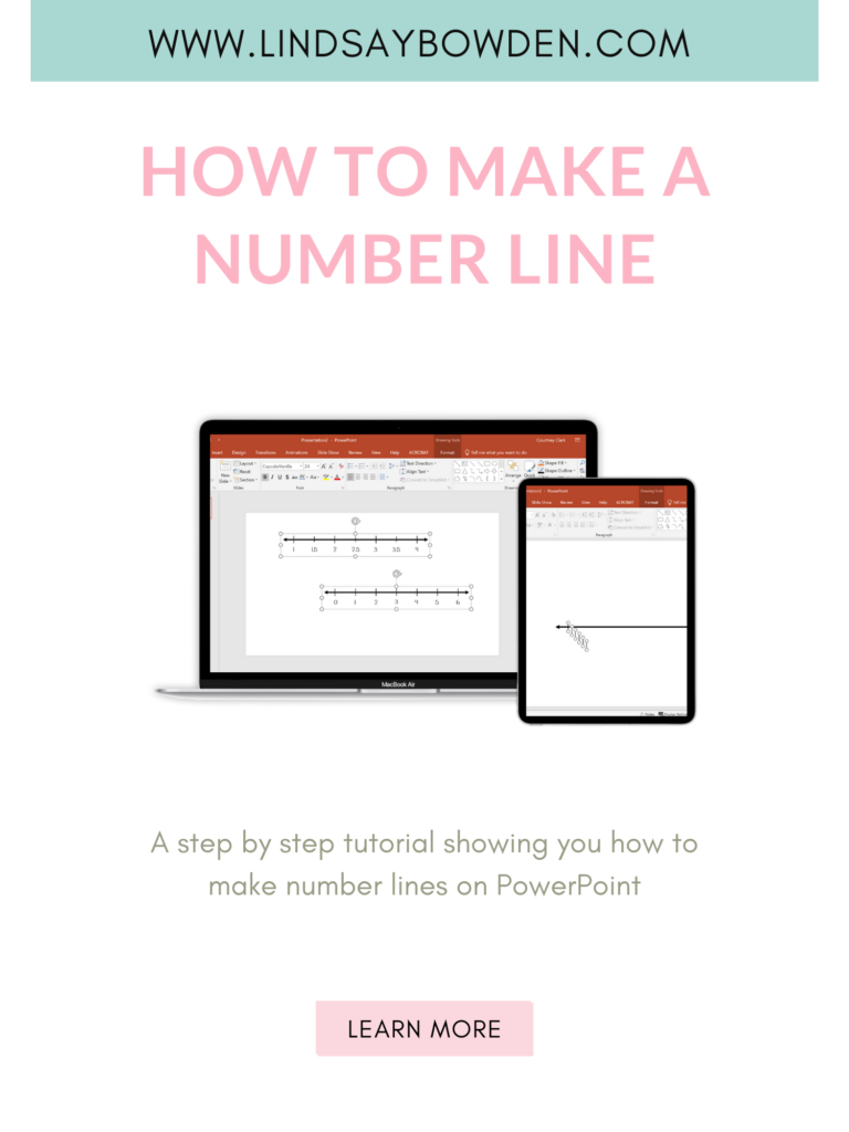 Make a number line using PowerPoint