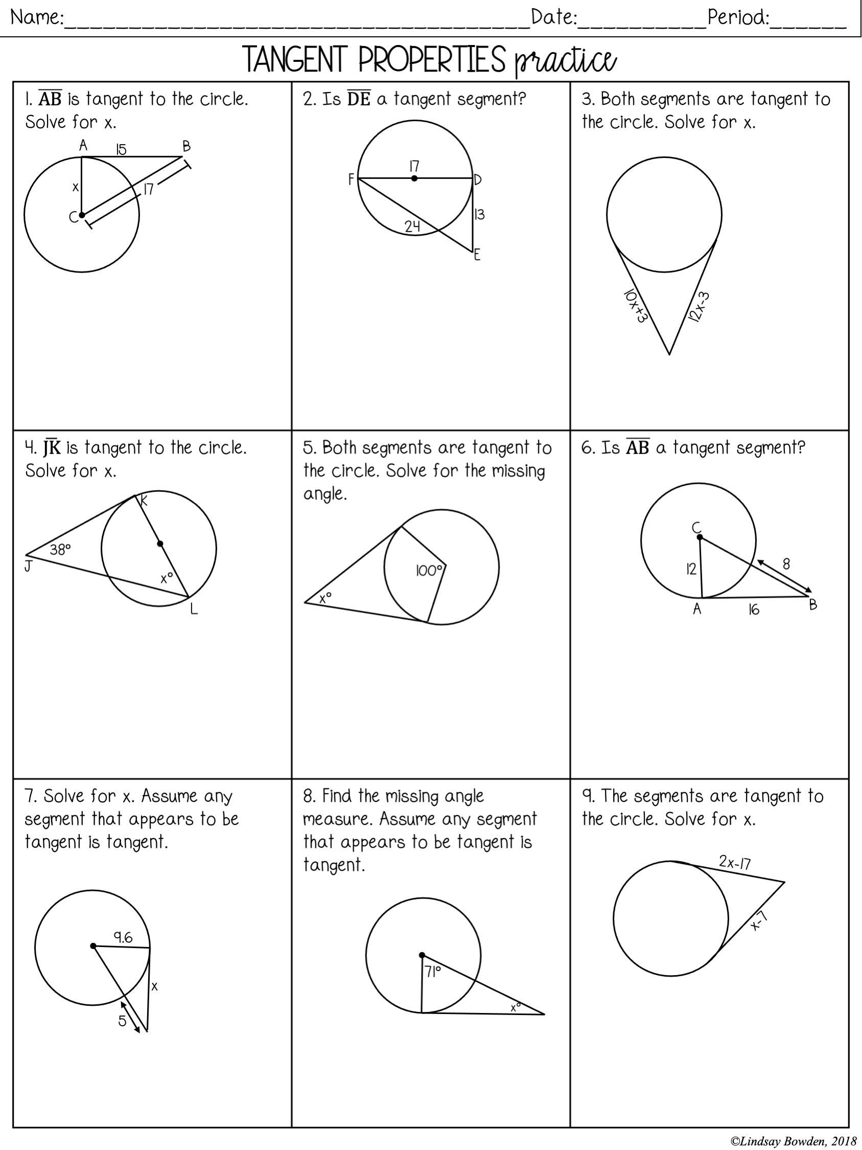 Circles Notes and Worksheets - Lindsay Bowden Intended For Angles In A Circle Worksheet