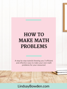 Learn how to make your own math problems