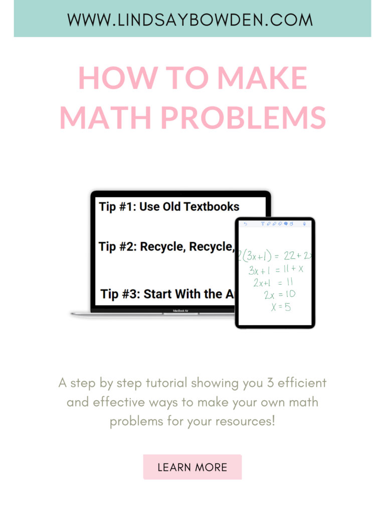 Use these 3 tips to learn how to make your own math problems