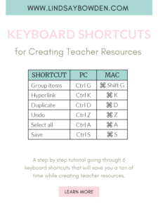 Shortcuts to create teacher resources