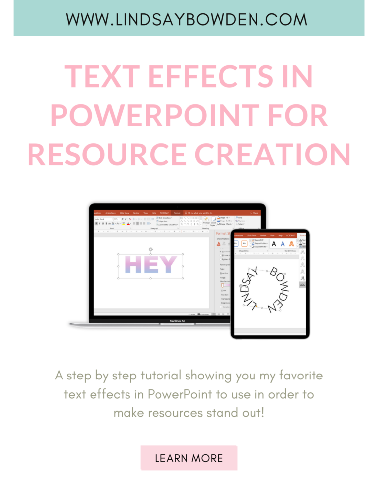 using text effects in PowerPoint to make your resources stand out