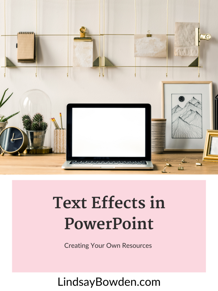 text effects in texture fill effect in PowerPoint to make your resources stand out