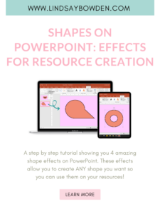 Shape effects on PowerPoint to utilize in order to customize your resources