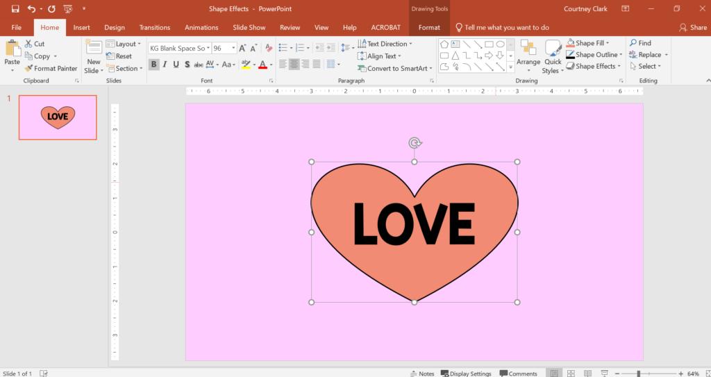 Convert a text box into a shape